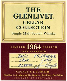Glenlivet-1964-label
